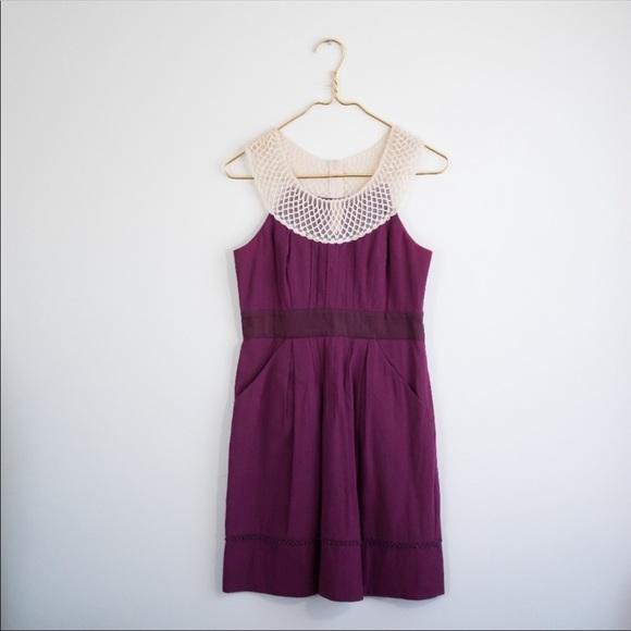 ANTHROPOLOGIE Floreat Maroon Tank Betin Dress 2